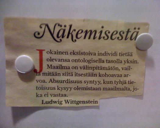 Wittgenstein: Näkemisestä